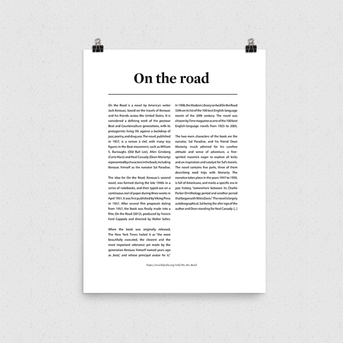 Poster - On the road