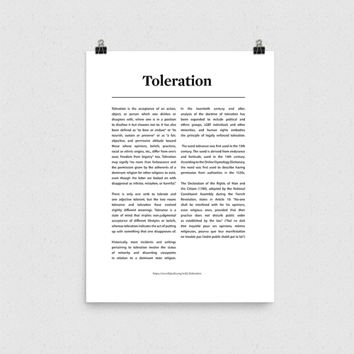 Poster - Toleration
