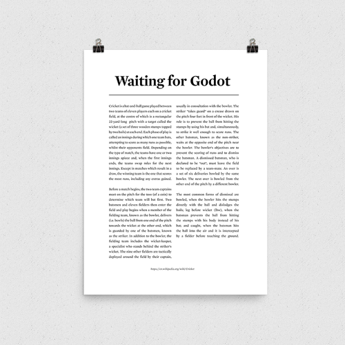 Poster - Waiting for Godot