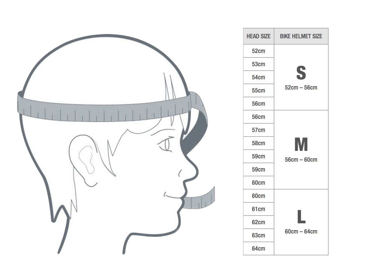Helmets Size Chart – Ultra Scooter