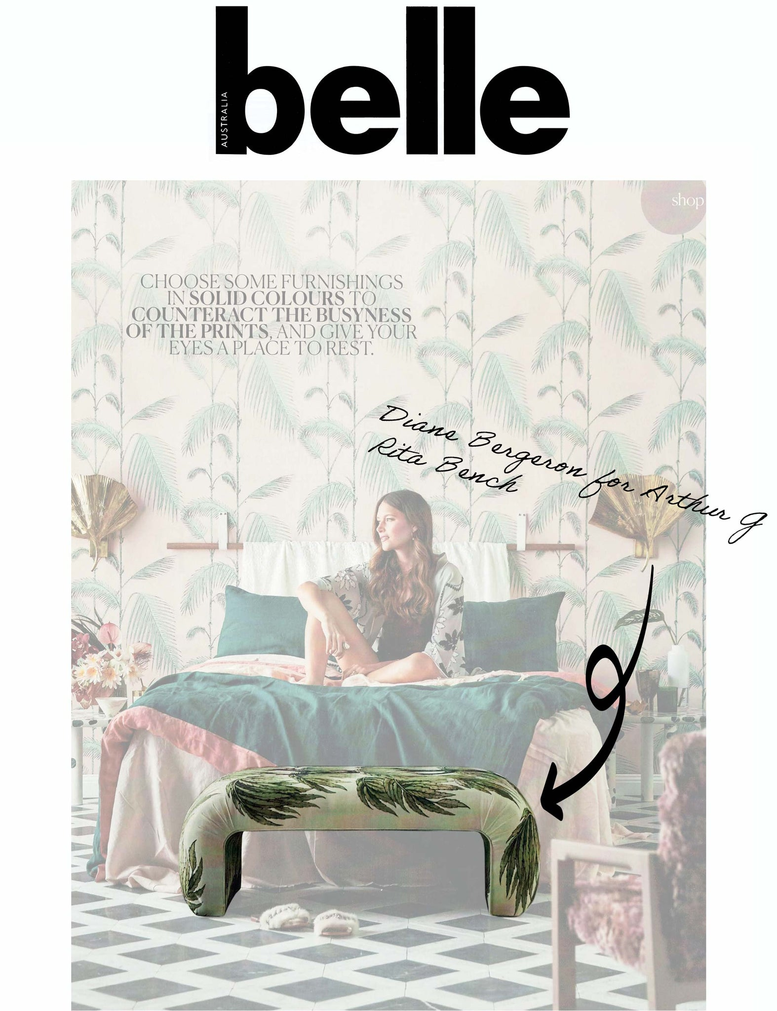 Belle Magazine - Rita Bench