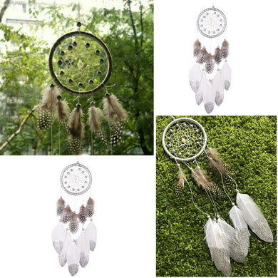 Handmade silver bead dream catcher wind chimes Indian style - My MAIDEN
