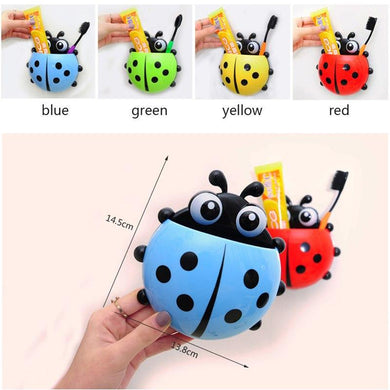 Cute ladybug insect toothbrush wall suction bathroom - My MAIDEN