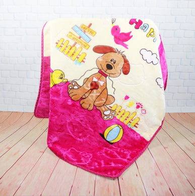 Double thick embossed children's cartoon blanket - My MAIDEN