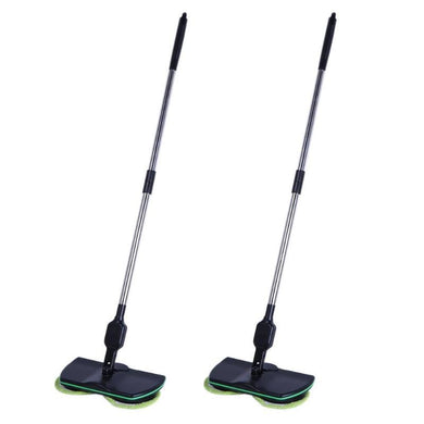 Stainless steel chargeable electric mop, hand push sweeper