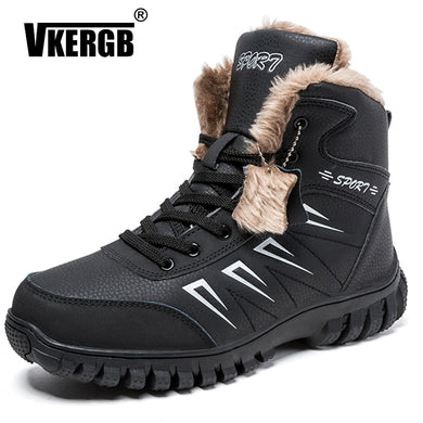VKERGB Mens Winter Boots  Genuine Leather