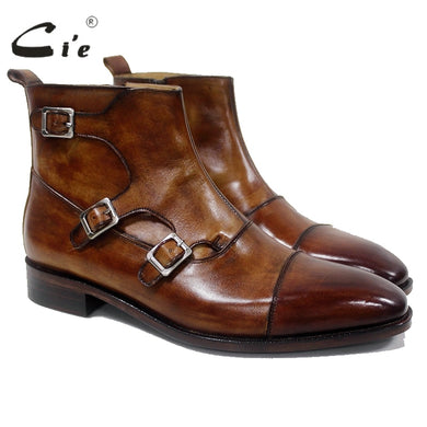 Men's boots brown genuine calf leather - My MAIDEN