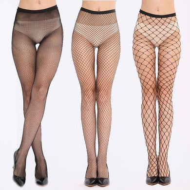 PUSEKY Women fishnet pattern lady nylon high waist  leggings