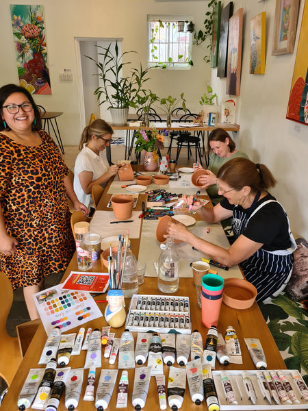 Art Planter Workshop Party