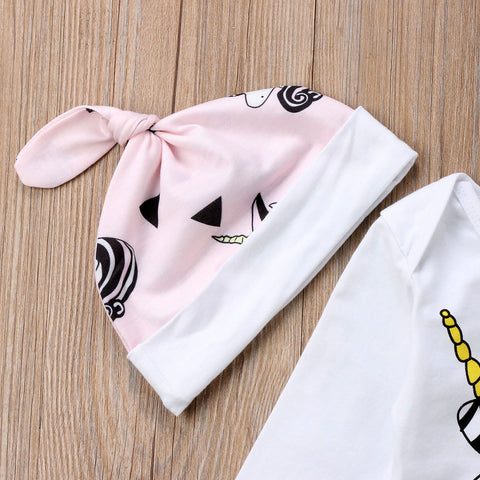 2a8134729923 4pcs Unicorn Romper Outfit - Online Baby Zone