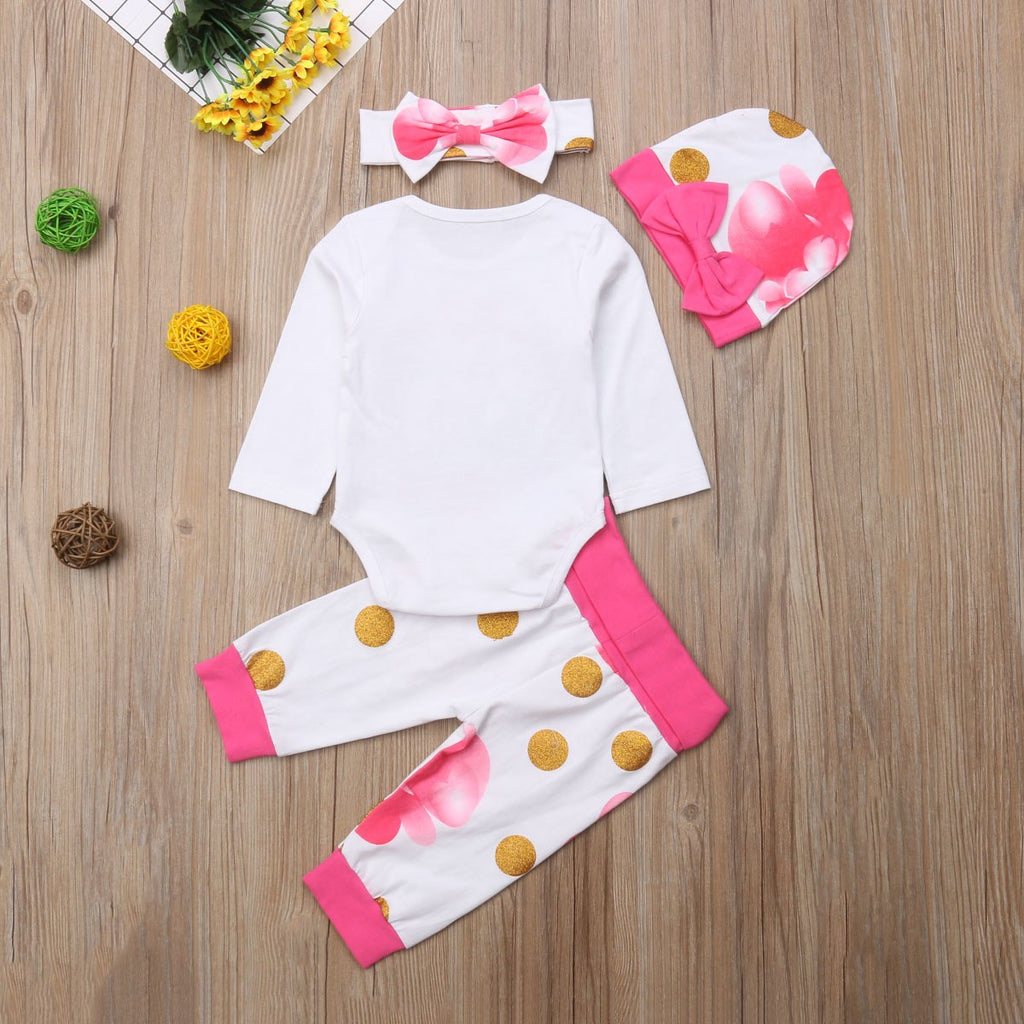 992a1bc52fcd All Good Things Are Wild   Free Baby Girls Unicorn Romper with Floral Pants  + Hat