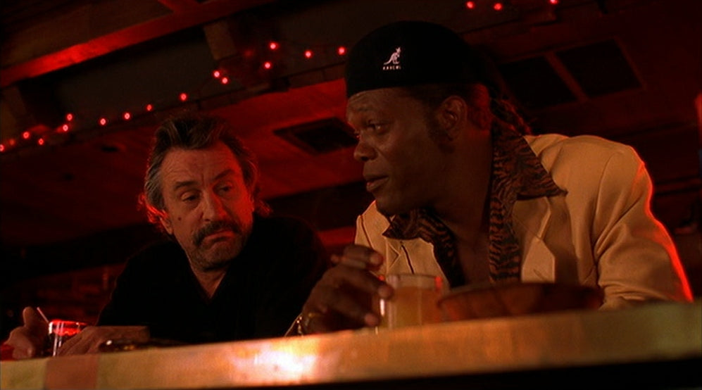 Samuel L Jackson and Robert De Niro star in Quentin Tarantino's Jackie Brown