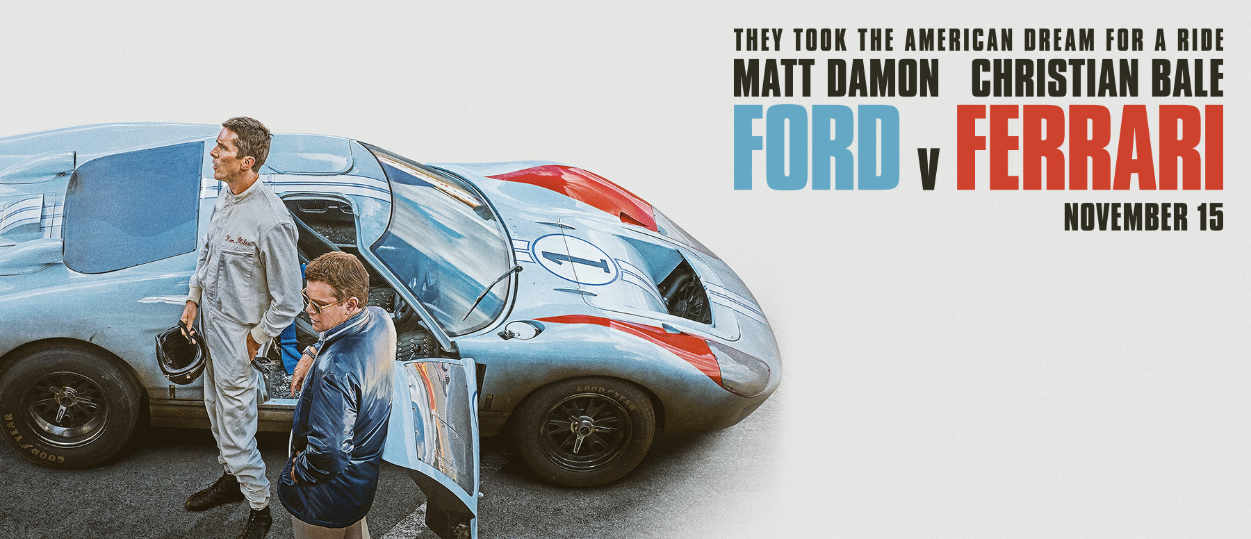 Matt Damon and Christian Bale Star in Ford v Ferrari