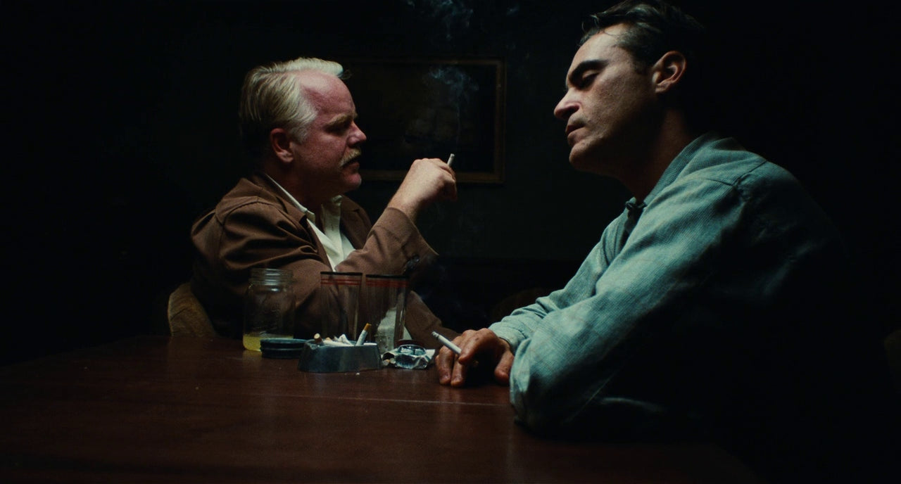 Joaquin Phoenix and Philip Seymour Hoffman star in Paul Thomas Anderson's The Master