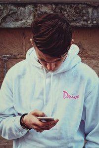 Drive Scorpion Hoodie | White - Masters of Cinema Clothing