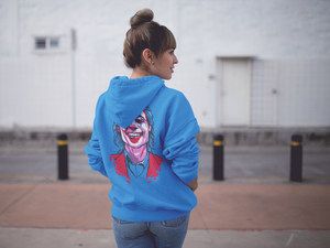 Joker Emblem Hoodie (Limited Edition Blue) - Masters of Cinema Clothing