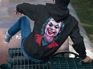 Joker Emblem Hoodie (Black) - Masters of Cinema Clothing