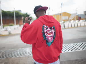 Joker Emblem Hoodie (Limited Edition Red) - Masters of Cinema Clothing