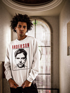 Anderson Sweatshirt | White - Masters of Cinema Clothing