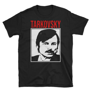 Tarkovsky Design T-Shirt (Black) - Masters of Cinema Clothing