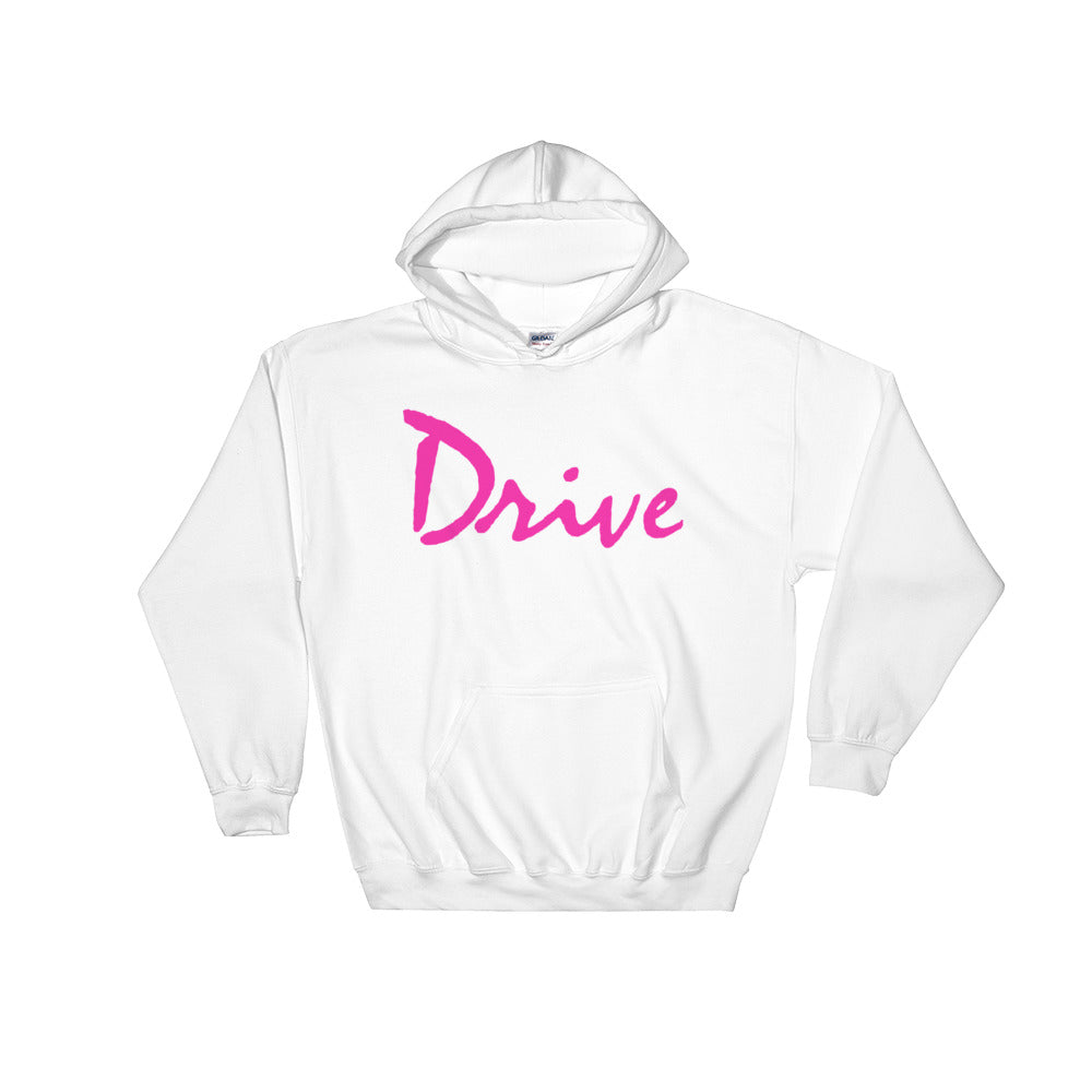 Drive Logo Hoodie | White - Masters of Cinema Clothing