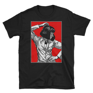 Mia Wallace Design T-Shirt (Black) - Masters of Cinema Clothing