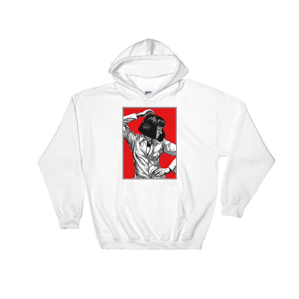 Mia Wallace Hoodie | White - Masters of Cinema Clothing