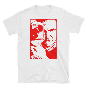 Tarantino Design T-Shirt (White and Red) - Masters of Cinema Clothing