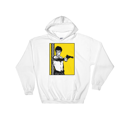 You Talking to Me? Hoodie | White - Masters of Cinema Clothing