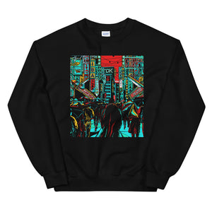 Front Tears in the Rain Sweatshirt | Black - Masters of Cinema Clothing