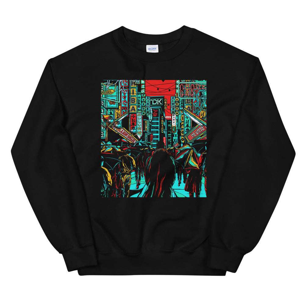 Front Tears in the Rain Sweatshirt | Black - Masters of Movies
