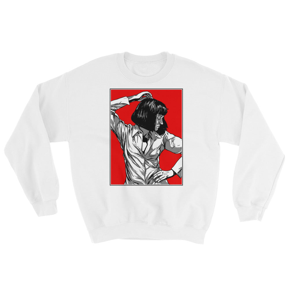 Mia Wallace Sweatshirt | White - Masters of Movies