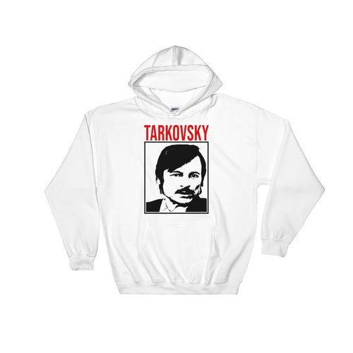 Tarkovsky Design Hoodie (White) - Masters of Cinema Clothing