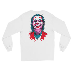 Joker Emblem Long Sleeve T-Shirt (White) - Masters of Movies