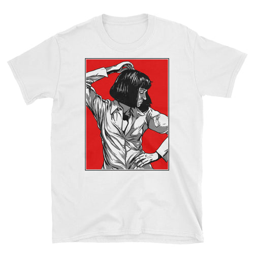 Mia Wallace Design T-Shirt (White) - Masters of Cinema Clothing