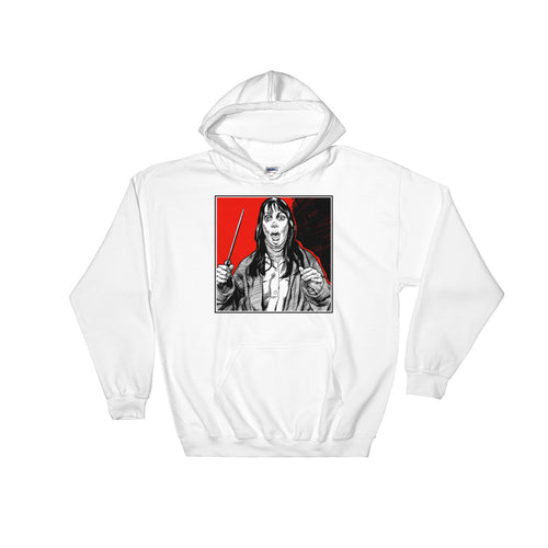 All Work No Play Hoodie | White - Masters of Movies