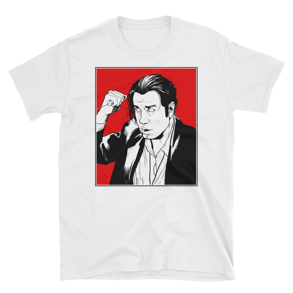 Vince Vega T-Shirt (White) - Masters of Movies