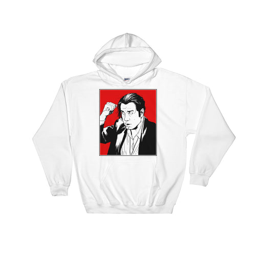 Vince Vega Hoodie (White) - Masters of Cinema Clothing
