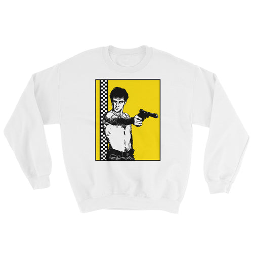 You Talking to Me? Sweatshirt | White - Masters of Cinema Clothing