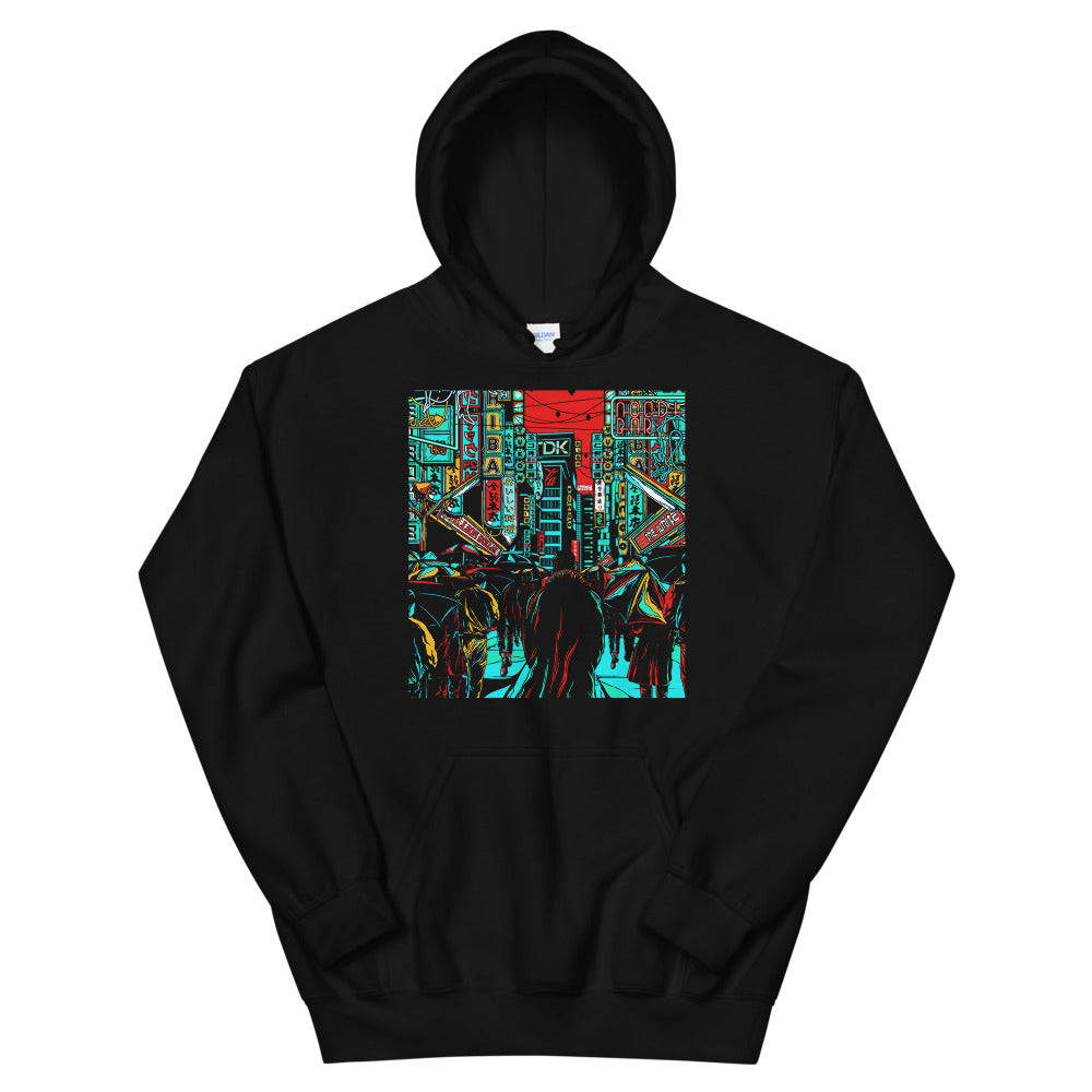 Front Tears in the Rain Hoodie | Black - Masters of Movies