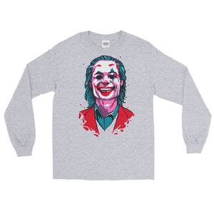 Joker Long Sleeve T-Shirt (Grey) - Masters of Cinema Clothing