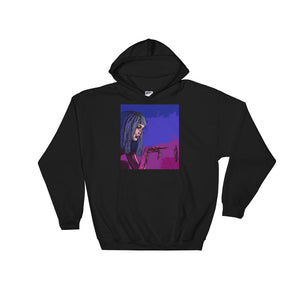 Neon Joi Hoodie | Black - Masters of Movies