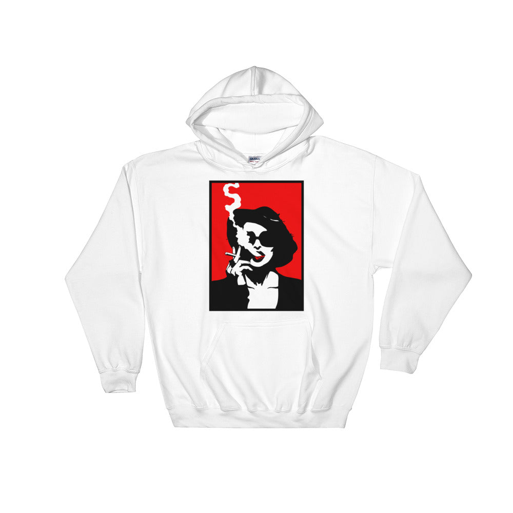 Marla Singer Hoodie (White) - Masters of Cinema Clothing