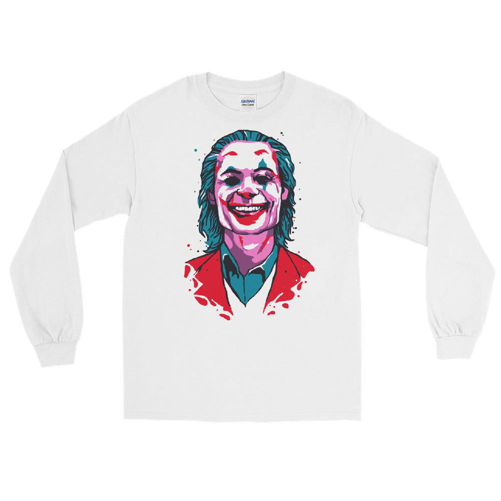 Joker Long Sleeve T-Shirt (White) - Masters of Cinema Clothing