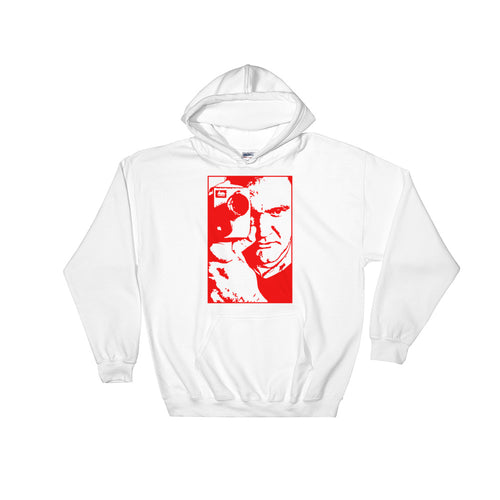 Tarantino Design Hoodie (White and Red) - Masters of Cinema Clothing