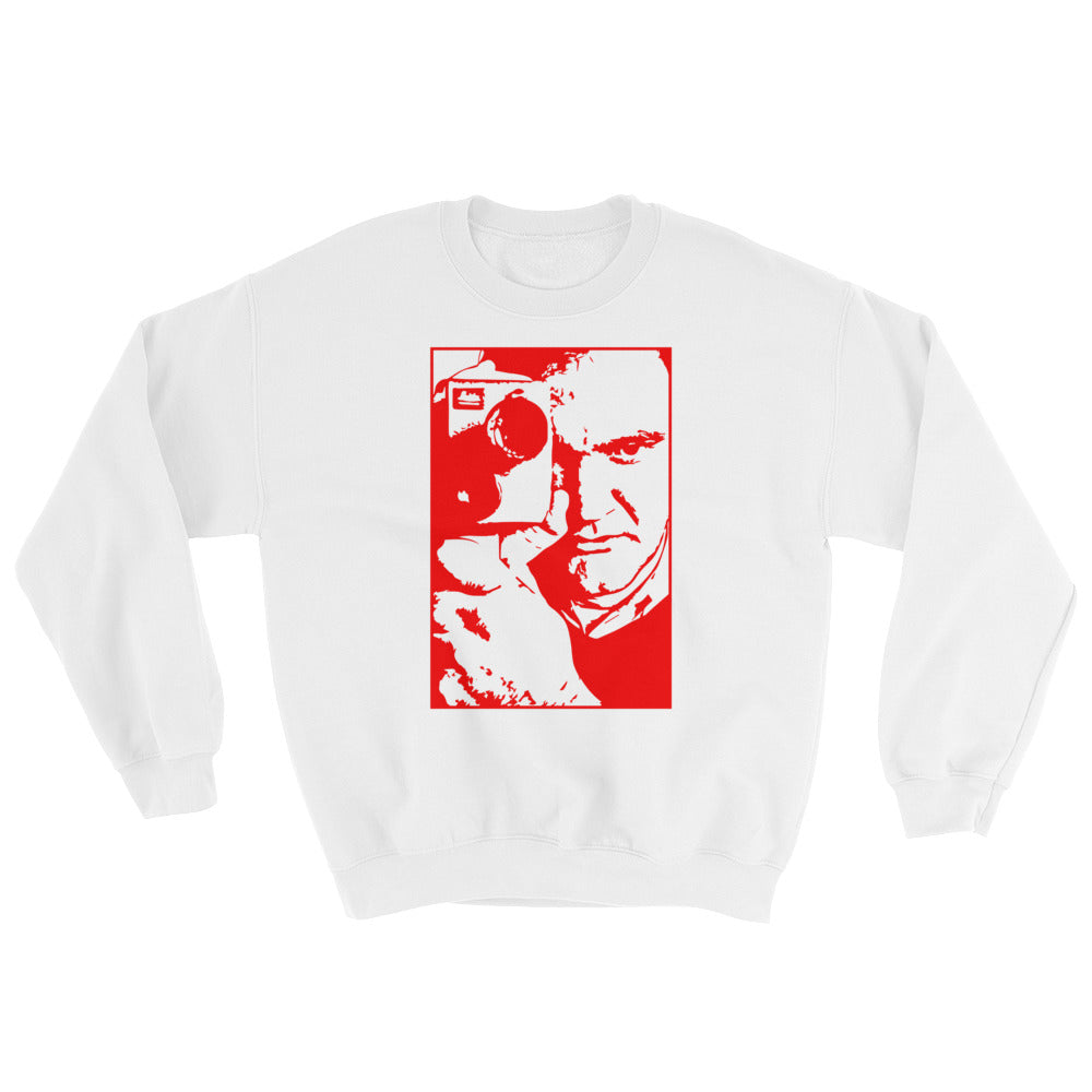 Tarantino Design Sweatshirt (White and Red) - Masters of Cinema Clothing