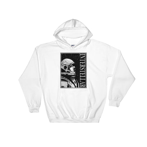Interstellar Hoodie | White - Masters of Movies