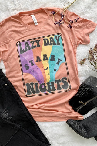Lazy Day Starry Nights Graphic Tee