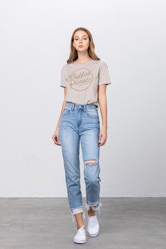 Experimental Trend Tapered Jeans