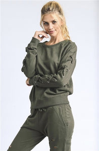 Mono B Drop Shoulder Pullover